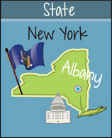 New York State Map Capital Flag Size 77 Kb From Us State Maps