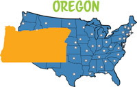 Oregon Map United States Clipart Size 107 Kb From Us State Maps