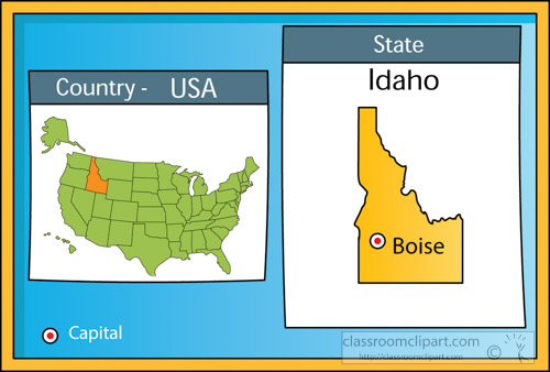 Search Results For Idaho Clip Art Pictures Graphics - United states map idaho