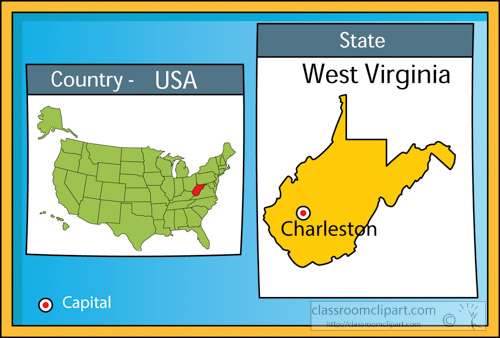 us state maps clipart charleston west virginia state us map with