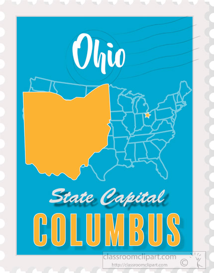US State Maps Clipart Photo Image - columbus-ohio-state-map ...