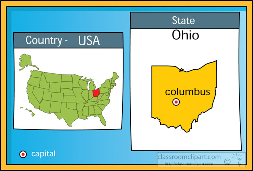 Ohio: Map, History, Population, Facts, Capitol, Flag, Tree ... |Ohio State Capital Map