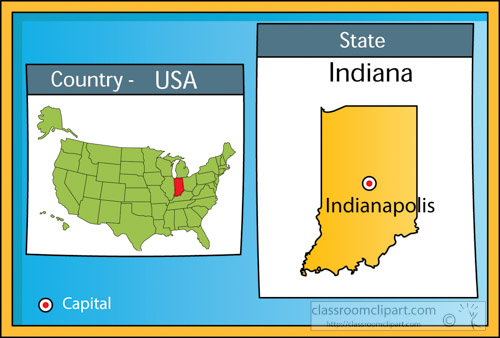 Us State Maps Clipart Indianapolis Indiana 2 State Us Map With