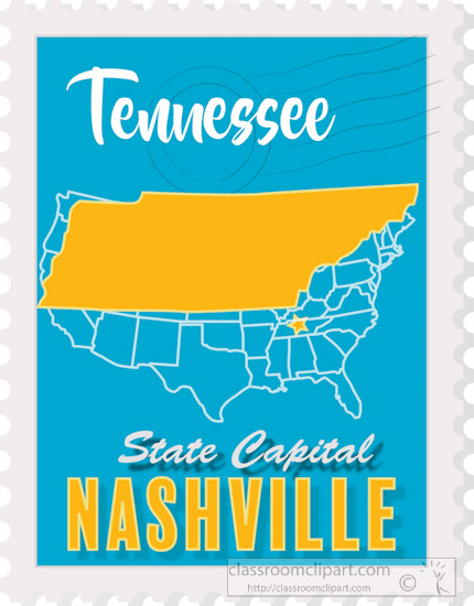 US State Maps Clipart- nashville-tennessee-state-map-stamp-clipart ...
