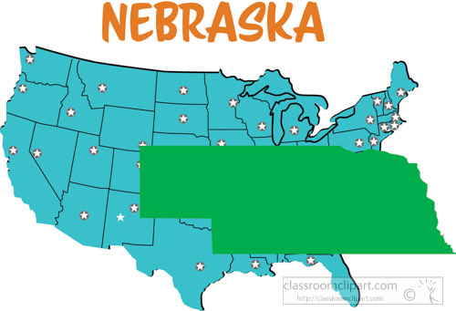 Us State Maps Clipart Nebraska Map United States Clipart