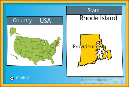 US State Maps Clipart Providencerhodeislandstateusmapwith - Rhode island on the us map