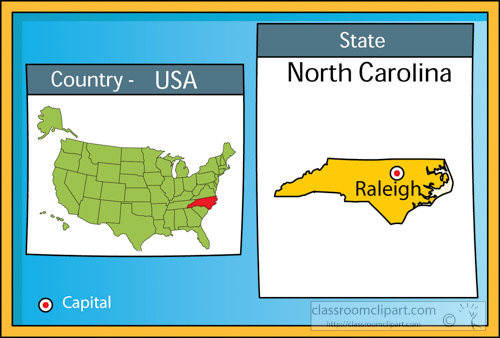 Us State Maps Raleigh North Carolina State Us Map With Capital - Raleigh-nc-on-us-map