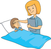 Clip Art Sick Clip Art search results for sick pictures graphics nurse taking care of child size 74 kb from medical