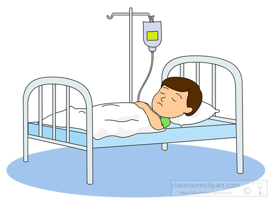 Picture Of Sick Person In Hospital Bed : Sick Person In Hospital Clipart Cartoon sick in bed related keywords ...