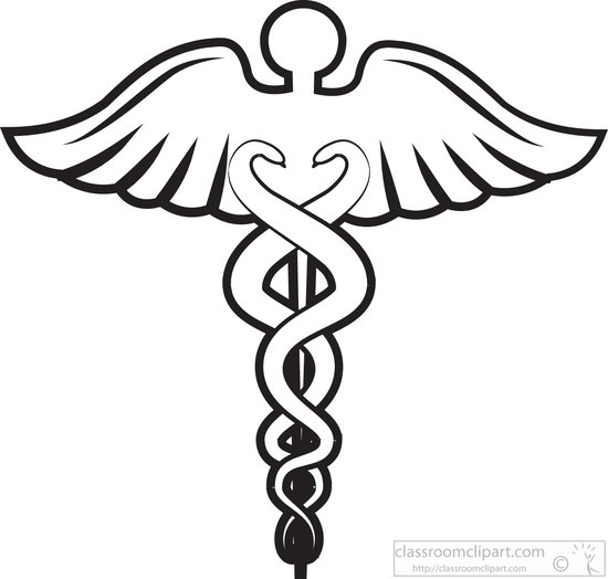 medical clipart medical caduceus black white outline clipart 815ga rh classroomclipart com medical emblem clip art medical emblem clip art