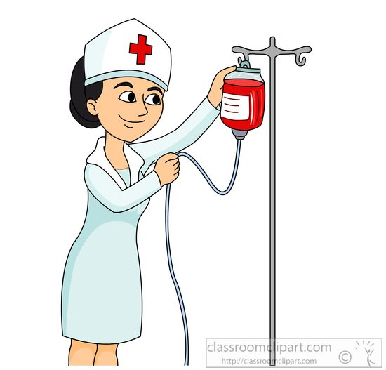Medical : nurse-at-hospital-setting-up-iv-drip-clipart ...