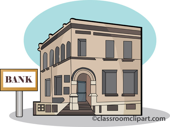 Bank building clipart for Free money to build a house