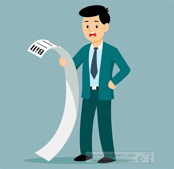 man with shocking expression looking at bills clipart.jpg