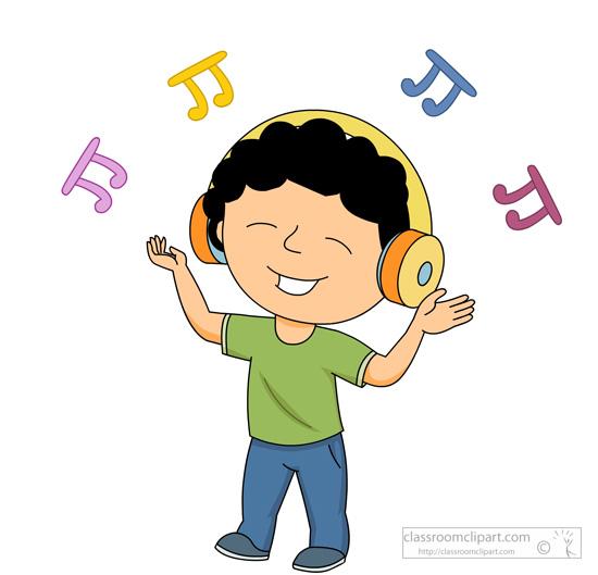 music clipart boydancingwhilelisteningmusicclipart