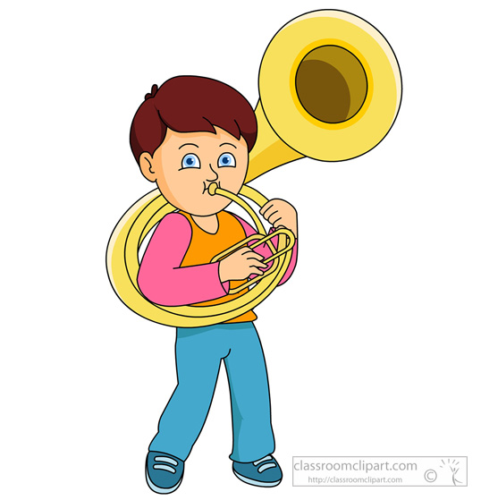 Musical Instruments Clipart - boy-playing-tuba-814 ...