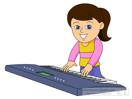 Girl Playing Clipart Girl Playing Piano Clipart