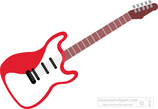 musical instruments clipart red color electrical guitar musical rh classroomclipart com music instrument clip art pictures