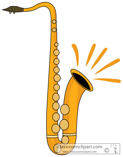 Musical Instruments Clipart- saxophone_woodwind_instrument ...