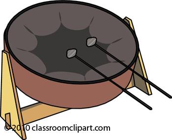 Musical Instruments : steel-drum-161009 : Classroom Clipart