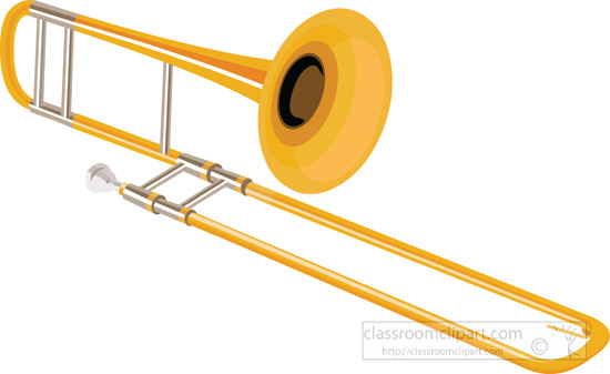 musical instruments clipart trombone without background clipart 713 rh classroomclipart com trumpet trombone clipart trombone clip art free