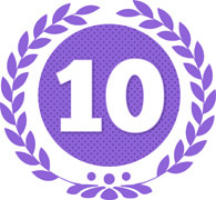 The Number 10 In Purple