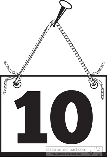Numbers Clipart - number-ten-hanging-on-board-with-rope ...   364 x 550 jpeg 54kB