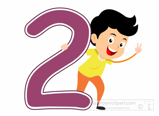 numbers playful boy standing with number two math clipart of boy and girl clipart of boys and girls