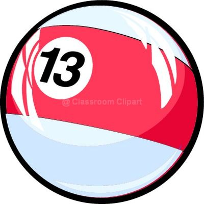 Numbers Clipart - thirteen - Classroom Clipart