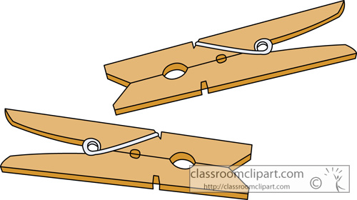 Objects : clothespins_413 : Classroom Clipart