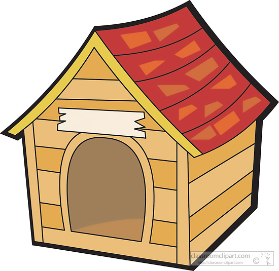 clipart of dog houses - photo #3