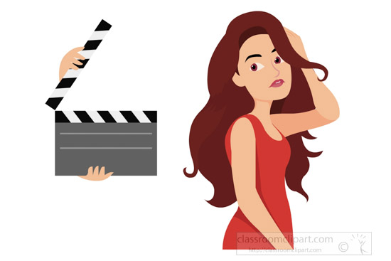 actress-in-red-dress-long-har-clipart.jpg