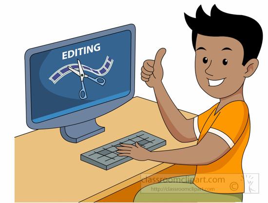 occupation editingfilmandvideooncomputerclipart