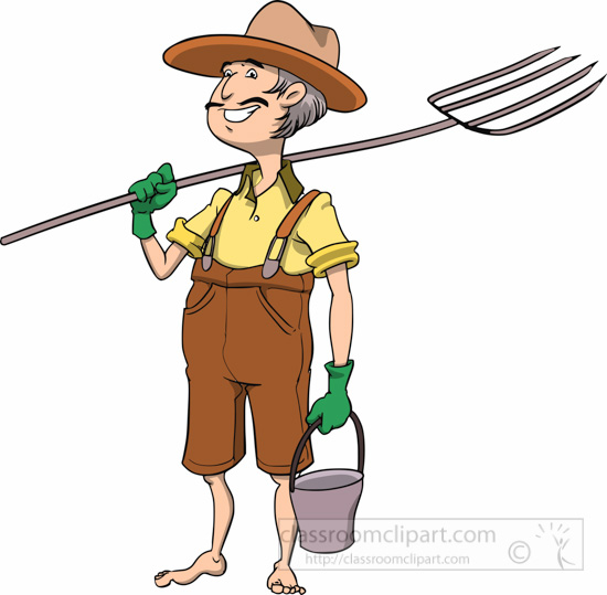 Occupation : farmer-cartoon-style-pitchfork-bucket-clipart ...