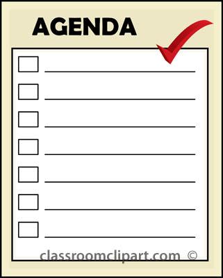 Office : agenda_22 : Classroom Clipart
