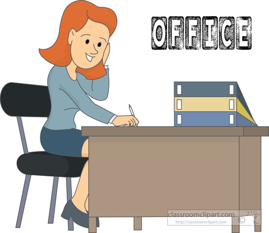 office clipart - office-worker-sitting-at-desk-clipart-215