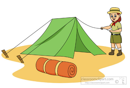Download chair png images transparent gallery - Outdoors Girl Scout Setting Up A Tent Clipart