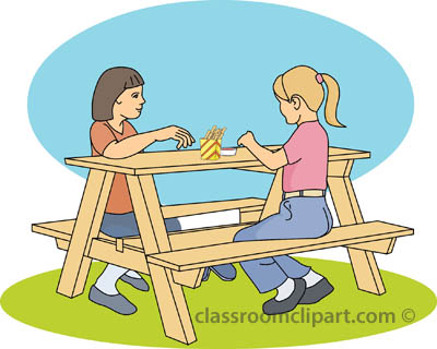 Outdoors : picnic_bench_A : Classroom Clipart