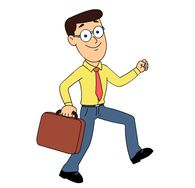 search results for briefcase clip art pictures graphics rh classroomclipart com clipart guy running happy guy clipart