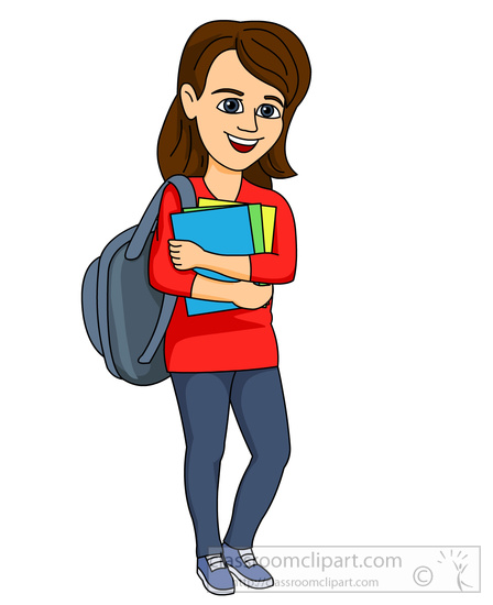 Girl With Backpack Clipart | www.pixshark.com - Images ...