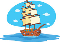Old Wooden Sailing Ship Clipart Size 148 Kb From Pirates