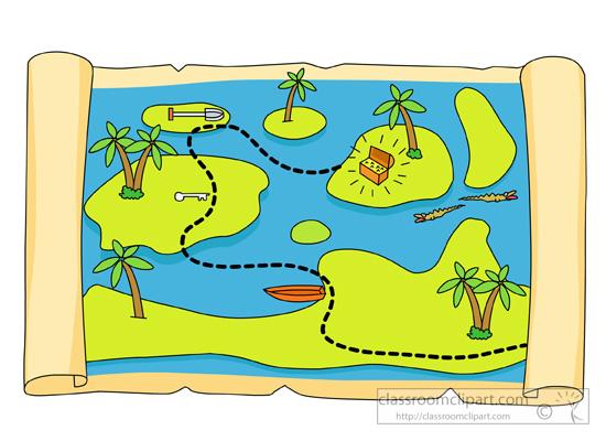 Treasure Map Cartoon,Cartoon TreasureBox,Cartoon Treasure ...