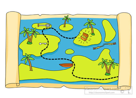 Pirates : treasure-map-clipart : Classroom Clipart