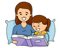 Image result for mum reading story cartoon