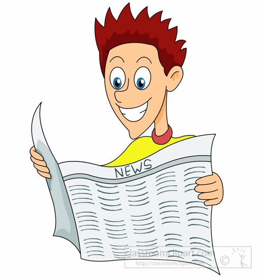 Reading : man-reading-newspaper-happily-clipart ...