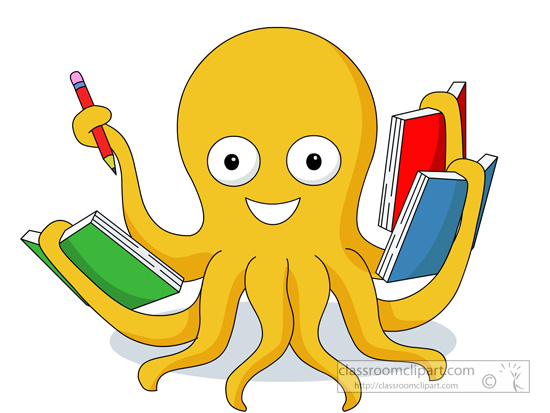 free clip art animals reading books - photo #14