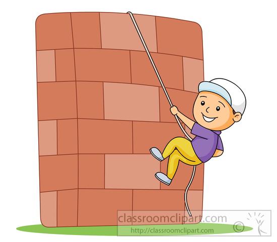 Recreation Clipart- climbing-up-rock-wall-clip-art-1593 - Classroom ...