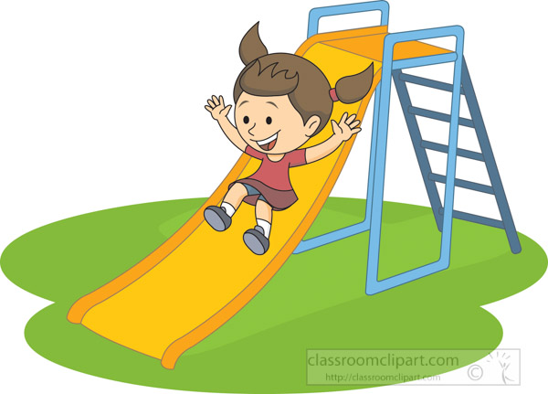 girl-sliding-down-yellow-slide-on-playground-clipart.jpg