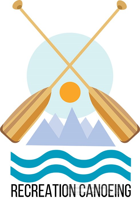 recreation-canoeing-showing-paddle-mountains-clipart.jpg