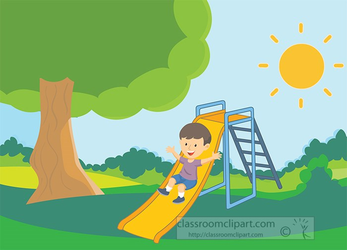 sunny-day-at-park-with-child-playing-on-a-slide-clipart.jpg