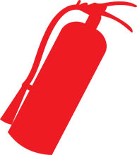 Clip Art Fire Extinguisher Clipart search results for extinguisher pictures fire safety silhouette size 70 kb from safety